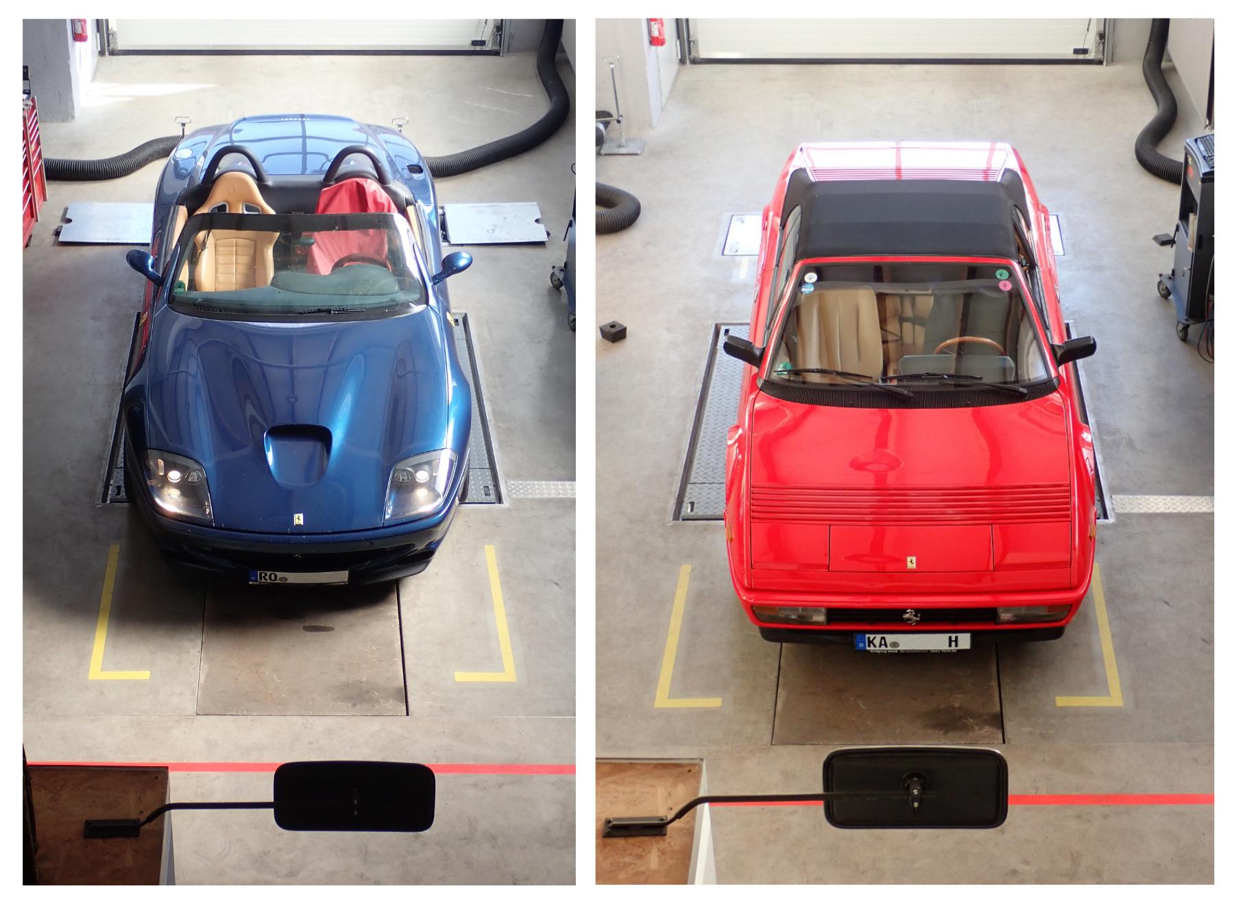 zu Gast: Ferrari Cabrios im Duett