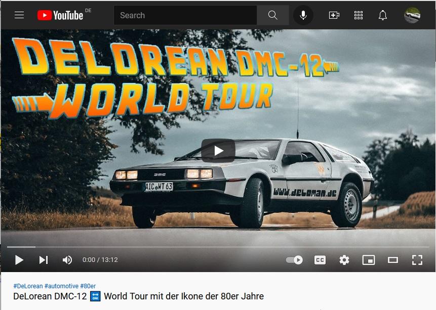 MotorZeitung.de über die World Tour Delorean